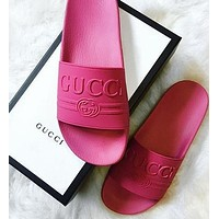 Gucci Woman Men Fashion Casual Sandals Slipper Shoes-2