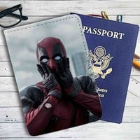 Deadpool Funny Leather Passport Wallet Case Cover