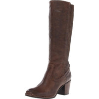 Frye Womens Lucinda Scrunch Leather Heels Riding Boots