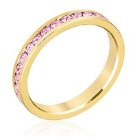 Gail Pink Eternity Stackable Ring   1ct   18k Gold