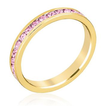 Gail Pink Eternity Stackable Ring | 1ct | 18k Gold