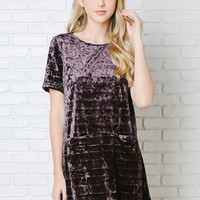 Audrey Velvet Shift Dress-FINAL SALE