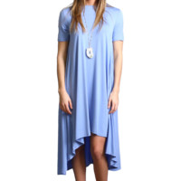 Serenity Piko High Low Dress