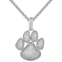 New Designer Men's Hip Hop Dog Paw Print Custom Pendant Deal