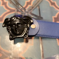 Mens Blue Versace Belt