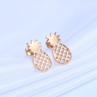 Boho Bijoux  Gold Tiny Pineapple Earrings Small Pineapple Studs Pineapple Post  Women Jewelry Gift for Best Friends