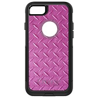 DistinctInk™ OtterBox Commuter Series Case for Apple iPhone or Samsung Galaxy - Hot Pink Diamond Plate Steel Print