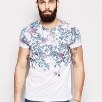 River Island T-Shirt with Floral Skull Print