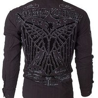 Licensed Official Xtreme Couture AFFLICTION Mens BUTTON DOWN Shirt CONNECT Eagle UFC Roar $78