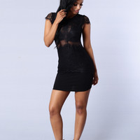 Fallen Angel Dress - Black