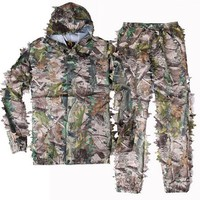 JUNGLEMAN Outdoor camouflage Jackets pants sets 3D Realtree AP Camo Hunting Photographing Bird-watching Paintball Ghillie Suits