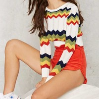 Chevron Chase Cropped Sweater