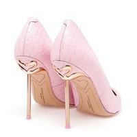 SOPHIA WEBSTER | Coco Flamingo Croc Embossed Pumps | brownsfashion.com | The Finest Edit of Luxury Fashion | Clothes, Shoes, Bags and Accessories for Men & Women