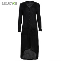 Fashion Women Cardigan Loose Sweater Long Sleeve knitted Sweater Thin Outwear Coat Long Cardigan Women SN9