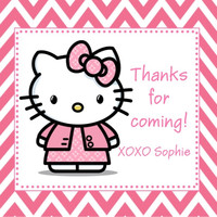 Hello Kitty Birthday Party Favor Tags