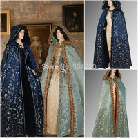 Cosplay Costumes New Unisex Gothic Hooded Cloak Wicca Robe Medieval Cape