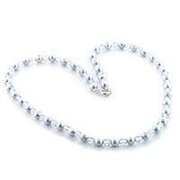 Pandora Necklace LO733 Stone Necklace with Synthetic in Light Sapphire