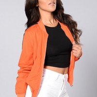 Good Sport Bomber Jacket - Orange/Black