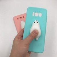 For Samsung Galaxy S8 case S8 Plus S5 S6 S7 edge Note 3/4/5 Bear Case Squishys Phone Case for Samsung A3 A5 A7 J5 2015 2016 2017