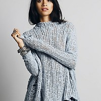 Free People Womens Ladder Stitch Pullover