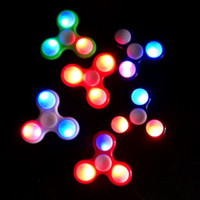 LED Light Hand Finger Spinner Fidget ABS Spinner EDC For Autism and ADHD Relief Focus Anxiety Stress Toy