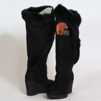 Cuce Shoes Cleveland Browns Ladies Cheerleader Boots - Black - http://www.shareasale.com/m-pr.cfm?merchantID=7124&userID=1042934&productID=525383354 / Cleveland Browns
