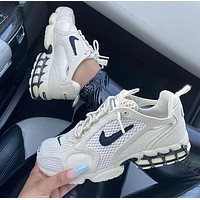 Stussy x Nike Air Zoom Spiridon Caged 2 Fashionable Men Women Casual Sports Running Shoes Sneakers