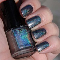 GLITTER GAL 3-D HOLOGRAPHIC NAIL POLISH 15 ML LARGER SIZE CHOOSE COLOR