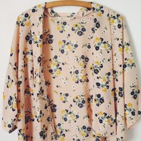 Pink Floral Kimono from Now and Again Co.