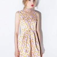 Pink Banana Fit and Flare Dress