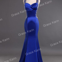 Sexy Backless Evening Dress Bridemaid Wedding Party gown Prom Cocktail Ball Gown