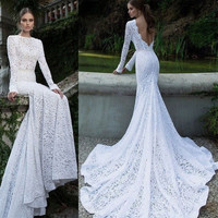 Lady Lace Sexy Backless Maxi Fishtail Dress Women Asymmetric Prom Evening Dress A_L = 1655765252