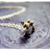 Tiny Silver Corgi Necklace - Sterling Silver Corgi Charm on a Delicate 18 Inch Sterling Silver Cable Chain