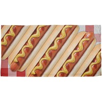 Hot Dog Picnic All Over Beach Towel