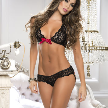 Sexy Lace Bra And Panty Set-Lingerie