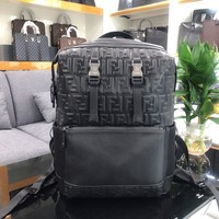 FENDI MEN'S LEATHER BACKPACK BAG