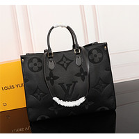 Louis Vuitton LV Women Leather Shoulder Bag Satchel Tote Bag Handbag Shopping Leather Tote Crossbody Satchel Shouder Bag