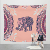 Bohemian Elephant Wall Tapestry by Rskinner1122