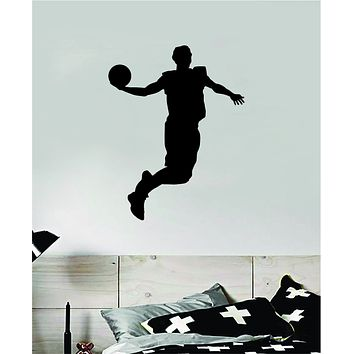Basketball Dunk V5 Wall Decal Quote Vinyl Sticker Decor Bedroom Room Teen Kids Sports NBA Hoops