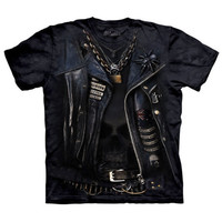 FUNNELWEB The Mountain Punk Rock Leather Jacket Biker Costume T-Shirt S-3XL NEW