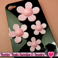 4 pc PINK FLOWERS Four Sizes Daisy Cellphone Decoration Cabochons