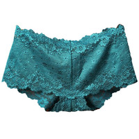 Boy Shorts in Lace! Gorgeous Blue Low Rise Panty