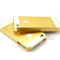 Luxury Golden Champagne Gold Matte Hard Pc Cover Case for Iphone 5c