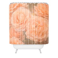 Maybe Sparrow Photography Orange Floral Crush Shower Curtain