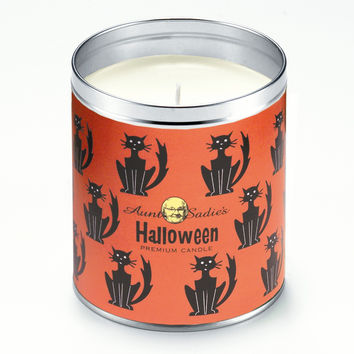 Halloween Black Cats Candle