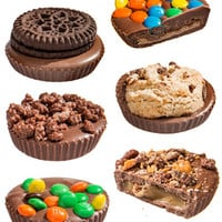 MegaLoad: Filled chocolate cups topped with even more candy.