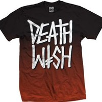 Deathwish Death Stack Wish Fade Premium New  T-Shirt Tee Shirt Black Red Brown Skateboards Skate Death Wish Best Lowest Shipping Price International Ship Welcomed Worldwide Best Price Lowest Deal