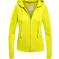 LE3NO Womens Vintage Zip Up Hoodie Jacket (CLEARANCE)