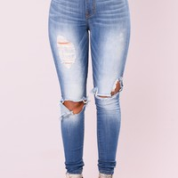 Game Ova Skinny Jeans - Medium Denim