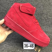 Metoo Nike Air Force 1 Mid For Christmas AF1 Running Sport Casual Shoes 315123-609 Sneakers